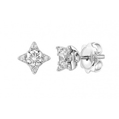Small earrings Salvini Luminous collection in white gold and diamonds