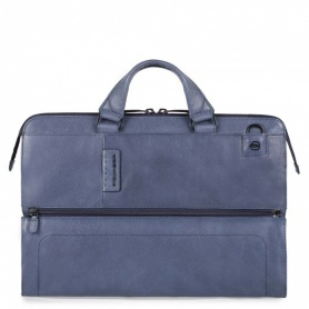 Briefcase with two handles CA4025P15S/blue line P15PLUS-Piquadro