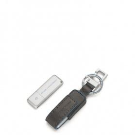 Custodia in pelle e chiavetta USB linea Blue Square - AC4246B2/GR
