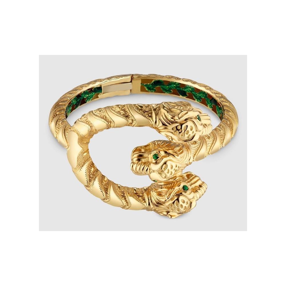 Gucci Armband gelb Gold und Emaille und Dionysos Tsavoriten-YBA458780001