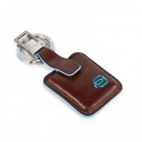 Portachiavi Piquadro Connequ Blue Square Marrone - AC3954B2/T/MO