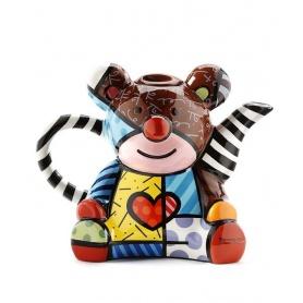 Teiera grande Romero Britto Orso Bear in ceramica decorata - 334411