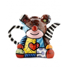 Romero Britto ceramic teapot decorated-Great Bear Bear 334411