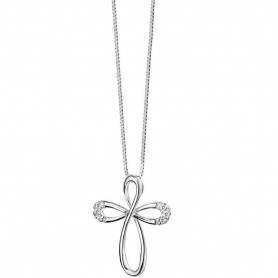 Comete cross jewelry in gold and brilliant-Croisette GLB885