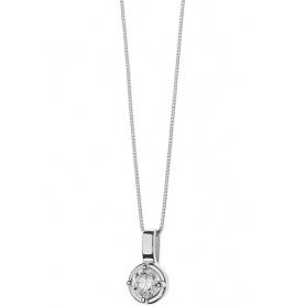 Collana Comete Gioielli Punti Luce in Oro bianco e Brillanti - GLB1355