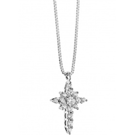 Cross Necklace Jewelry gold snowflake Light and bright Comets-GLB782