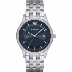 Armani watch men's quartz stainless steel blue dial-AR11019