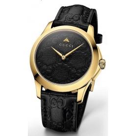 Orologio Gucci G-Timeless Signature nero pelle - YA126581