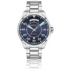 Hamilton Khaki Aviation blue and Green Car Pilot watch-H64615145