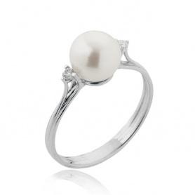 Goldener Ring mit Perle-1APB085CC5140