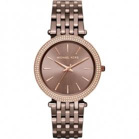 Michael Kors Uhr Frau geben uns Terra Bronze mit Strass-MK3416