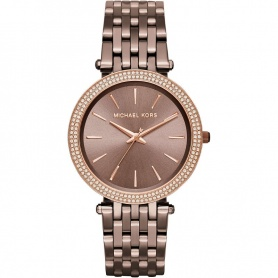 Michael Kors watch woman give Us terra bronze with Rhinestones-MK3416