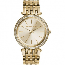 Michael Kors watch woman give Us gold with pave-MK3191