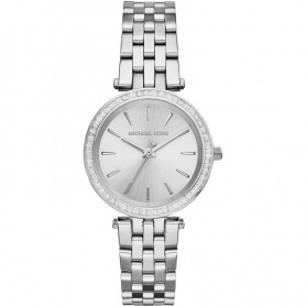 Michael Kors watch woman give Us silver with swarovski crystal-MK3364