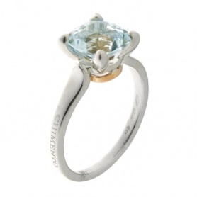 Aquamarine gold ring-1A06797AQ7140