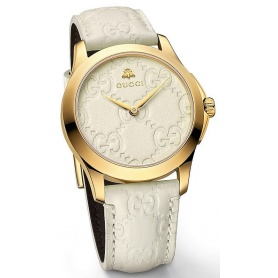 Orologio Gucci G-Timeless Signature bianco pelle - YA126580