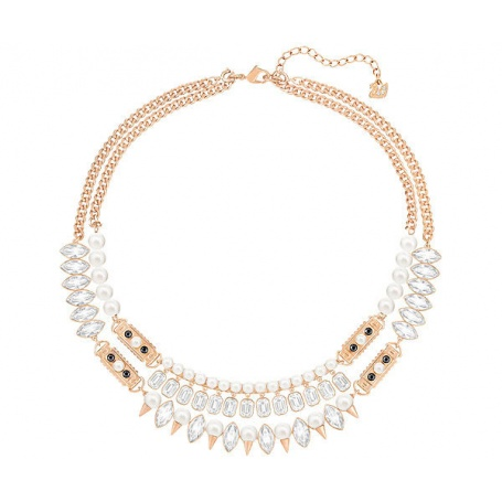 prix le plus bas trouver le travail baskets Swarovski Crystal and Pearl rose Necklace collier Gangster ...