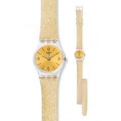 Swatch watch GOLDENDESCENT double gold glitter