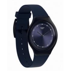 Skinsparks blue line Skin Swatch watch with Rhinestones-SVUN100