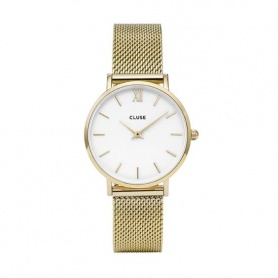 CLUSE-CLUCL30010 mesh gold plated watches Minuit