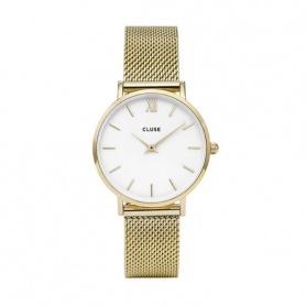 CLUSES-CLUCL30010 mesh goldene vergoldete Uhren Minuit