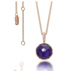 Beautiful necklace with gold blue Sapphire, Mimi crisatllo and diamonds