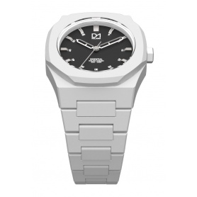 Watch white octagonal ring-Milan line D1 Essential ES03