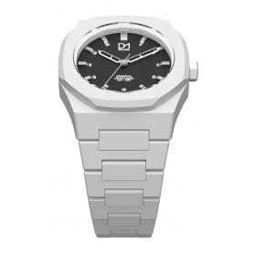 Weiße achteckigen Ring-Mailand Uhrenlinie D1 wesentliche ES03