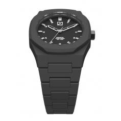 Octagonal ring grey Milan line Essential watch D1-ES02