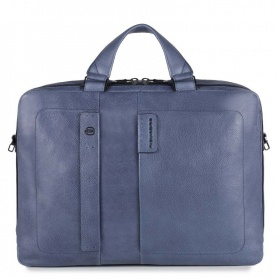 Briefcase with two handles Piquadro laptop blue line P15PLUS