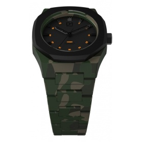 Camouflage Camo octagonal ring line D1 Milan clock