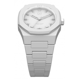 Watch white octagonal ring-Milan line Monochrome D1 MO03