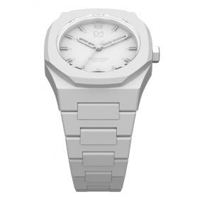 Weiße achteckigen Ring-Mailand Uhrenlinie Monochrom D1 MO03