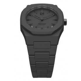 Octagonal ring grey Monochrome line D1 watch Milan-MO02