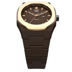 Premium-Uhrenlinie Brown achteckigen ring Rosé D1 Mailand