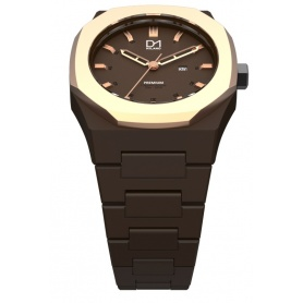 Watch Premium line Brown octagonal ring Rosé D1 Milan