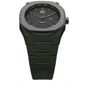 Achteckige Lünette Watch Black Schwarz Premiumlinie D1 Milan-PR04