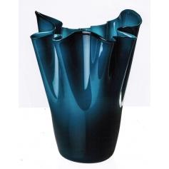 Calla Mint green and Opaline vase Venini Mole in limited edition