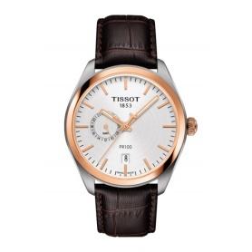 Orologio Tissot PR 100 Dual Time uomo marrone - T101.452.26.031.00