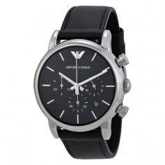 Chronograph Man Leather Armani Classic AR1733