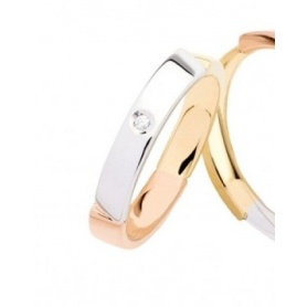 Faith Polello Linie Moment in drei Diamanten und Diamanten - L2982DBGR