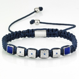 Damen Quaste Armband mit blauen Lanyard und Steine - GS07