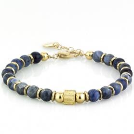 Handmade blue teddy bear bracelet - ALAIN