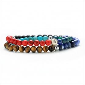 Ladies' Tassel Bracelet Double Multicolor Elastic Woman - COLORS DUBLE