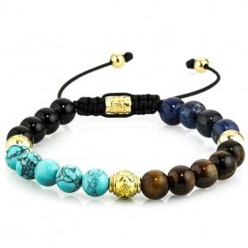 Handmade multicolor multicolored women's tassel bracelet - ANTIGUA