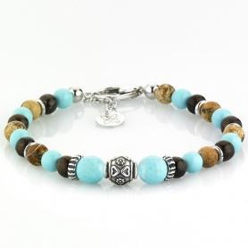 Multicolor Elastic Women's Tassel Bracelet - TURQUOISE COLORS