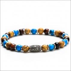 Elastic multicolor elastic women's Gerba bracelet - SAHARA