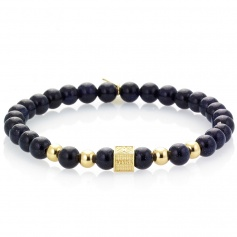 Men's Tassel bracelet black elastic band - EDWARD