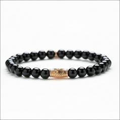 Ladies 'Tassel Bracelet - BLACK SPIRIT ROSE'