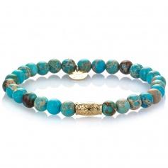 Turquoise elastic women's Ankle bracelet - NICOLAS